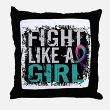 Licensed Fight Like a Girl 31.8 Thyro Throw Pillow