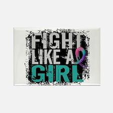 Licensed Fight Like a Girl 31.8 T Rectangle Magnet