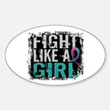 Licensed Fight Like a Girl 31.8 Thy Sticker (Oval)
