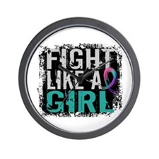 Licensed Fight Like a Girl 31.8 Thyroid Wall Clock