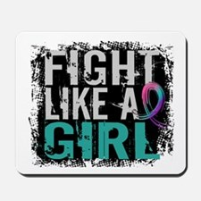 Licensed Fight Like a Girl 31.8 Thyroid Mousepad