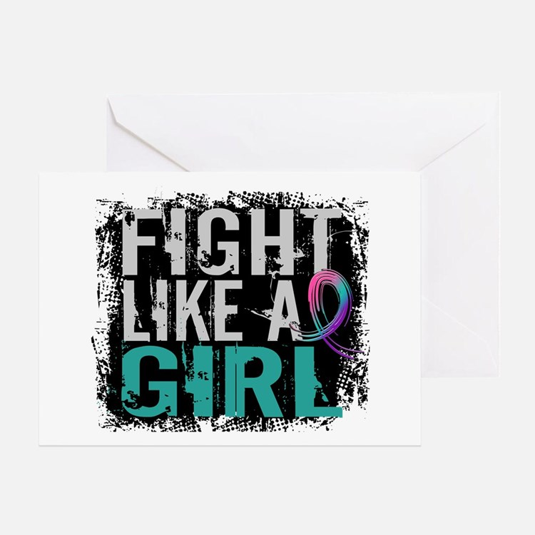 Licensed Fight Like a Girl 31.8 Thyr Greeting Card