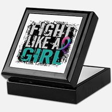 Licensed Fight Like a Girl 31.8 Thyro Keepsake Box