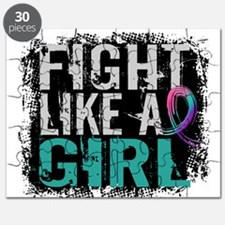 Licensed Fight Like a Girl 31.8 Thyroid Can Puzzle