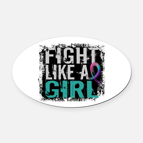 Licensed Fight Like a Girl 31.8 Th Oval Car Magnet