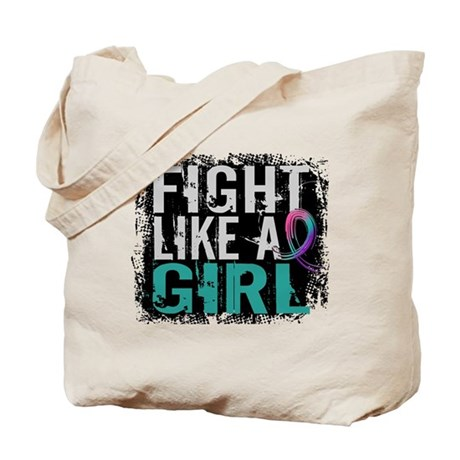 Licensed Fight Like a Girl 31.8 Thyroid C Tote Bag