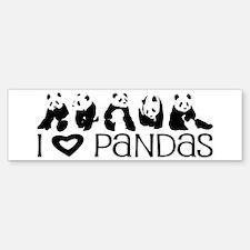 I Heart Pandas Bumper Bumper Sticker