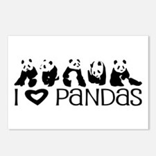 I Heart Pandas Postcards (Package of 8)