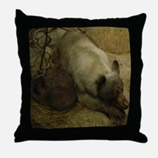 Momma Bear and Curled Cub (Throw Pillow)