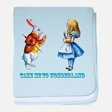 Take me to Wonderland baby blanket