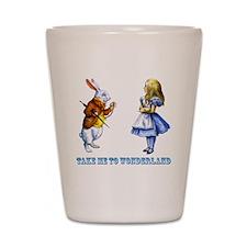 Take me to Wonderland Shot Glass