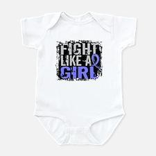 Licensed Fight Like a Girl 31.8 Th Infant Bodysuit