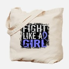 Licensed Fight Like a Girl 31.8 Thyroid D Tote Bag