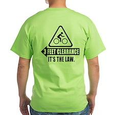 Cyclist Safety Shirt - 3 Feet Clearance LAW - USA