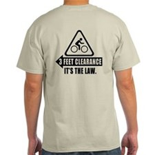 Cyclist Safety Tee- 3 Feet Clearance LAW (USA)
