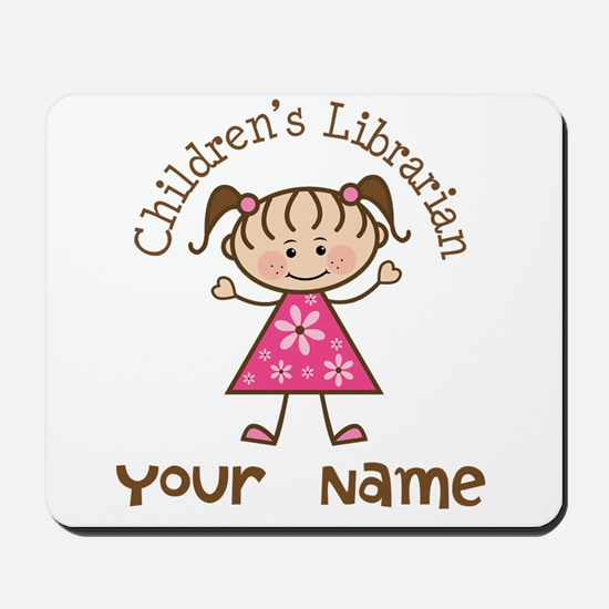 Personalized Children's Librarian Mousepad