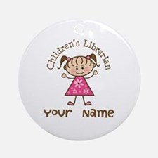 Personalized Children's Librarian Ornament (Round)