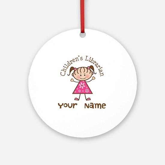 Personalized Children's Librarian Ornament (Round)