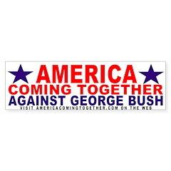 America Coming Together Bumper Bumper Sticker