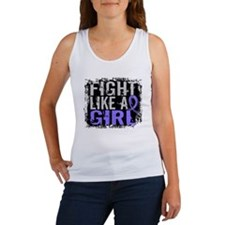 Fight Like a Girl 31.8 Stomach Cancer Women's Tank