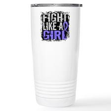 Fight Like a Girl 31.8 Stomach Cancer Travel Mug