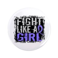 "Fight Like a Girl 31.8 Stomach Cancer 3.5"" Button"