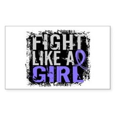 Fight Like a Girl 31.8 Stomach Cancer Decal