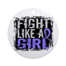 Fight Like a Girl 31.8 Stomach Cancer Ornament (Ro