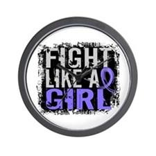 Fight Like a Girl 31.8 Stomach Cancer Wall Clock