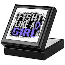 Fight Like a Girl 31.8 Stomach Cancer Keepsake Box