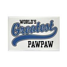 World's Greatest PawPaw Rectangle Magnet
