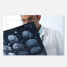 Doctor examining MRI scans - Postcards