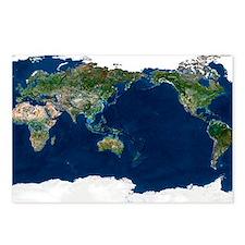 Whole Earth, satellite image - Postcards