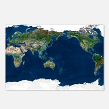 Whole Earth, satellite image - Postcards