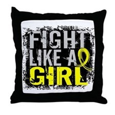 Fight Like a Girl 31.8 Sarcoma Throw Pillow