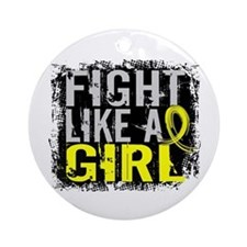 Fight Like a Girl 31.8 Sarcoma Ornament (Round)