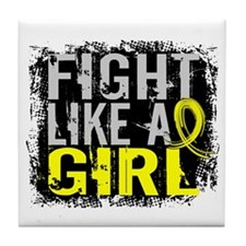Fight Like a Girl 31.8 Sarcoma Tile Coaster