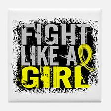 Fight Like a Girl 31.8 Sarcoma Tile Coaster