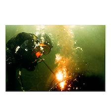 Welding underwater - Postcards