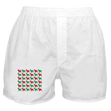Schnauzer Christmas or Holiday Silhouettes Boxer S