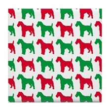 Schnauzer Christmas or Holiday Silhouettes Tile Co