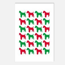 Schnauzer Christmas or Holiday Silhouettes Postcar