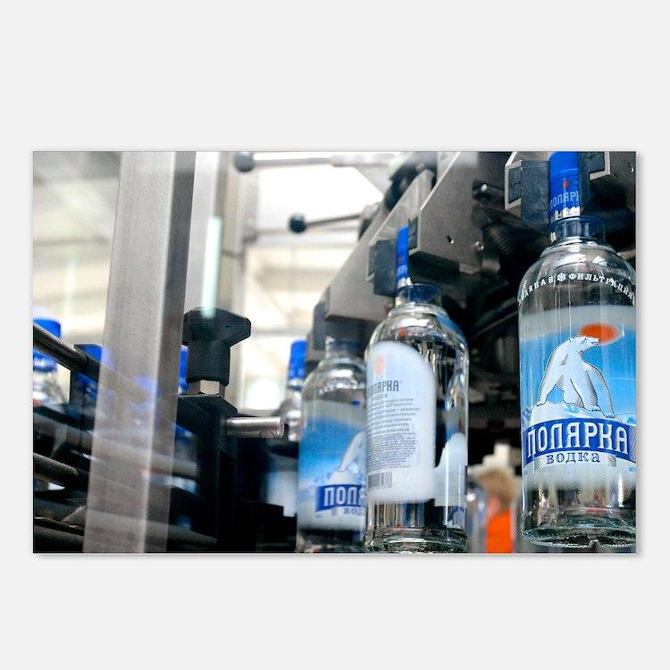Vodka bottling machine - Postcards