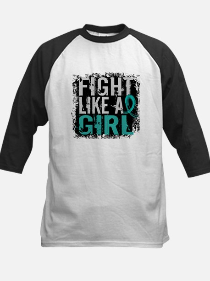 Fight Like a Girl 31.8 PKD Kids Baseball Jersey
