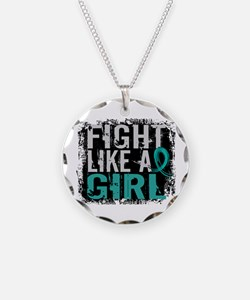Fight Like a Girl 31.8 PKD Necklace Circle Charm