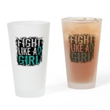 Fight Like a Girl 31.8 PKD Drinking Glass