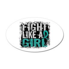 Fight Like a Girl 31.8 PKD Wall Decal