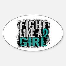 Fight Like a Girl 31.8 PKD Sticker (Oval)