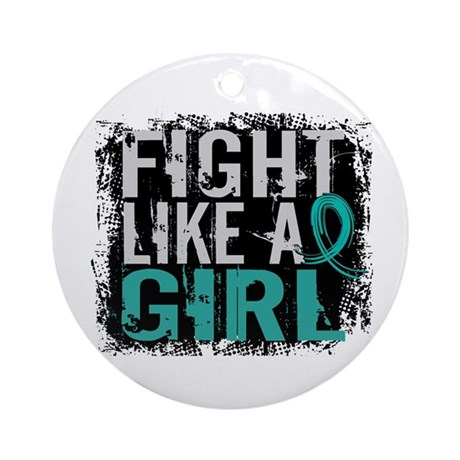 Fight Like a Girl 31.8 PKD Ornament (Round)