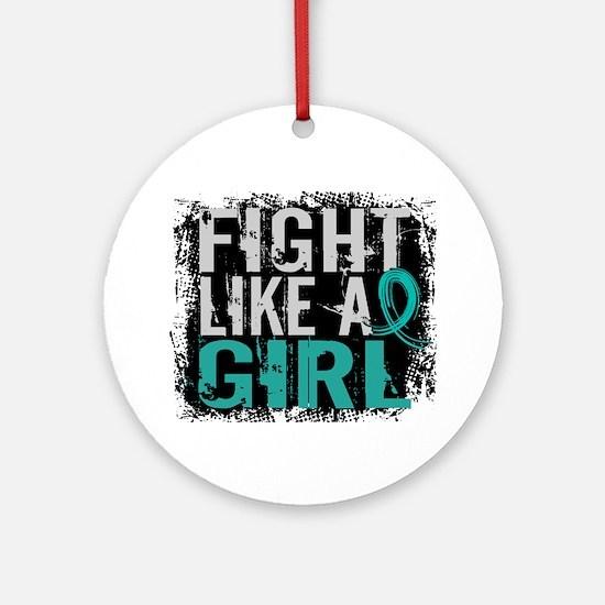Fight Like a Girl 31.8 PKD Ornament (Round)